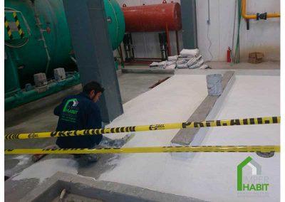 Tercer fase de impermeabización cementoso